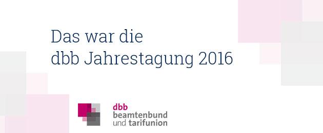 : dbb Jahrestagung 2016