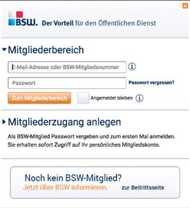 d021235a97c7 BSW Online-Zugang anlegen - so funktionierts